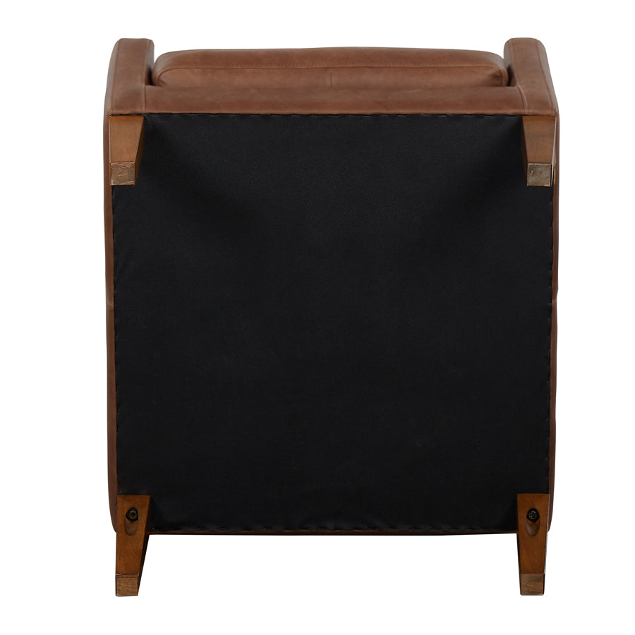 Batman Armchair - Brown Leather - underside
