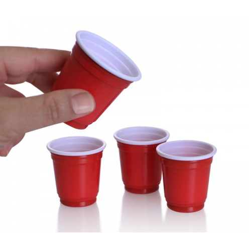 Mini Red Shot Cups