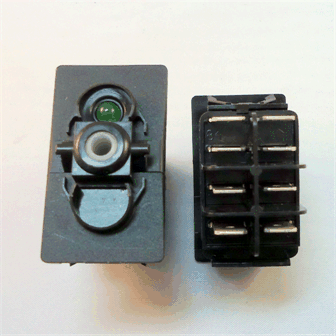 Rocker, Body DPDT (Momentary) 12v w/ LED - 1260231
