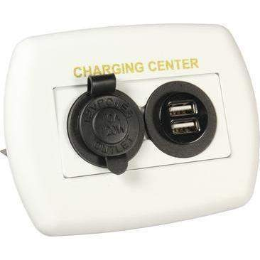 JR Products RV 12V/USB Charging Center