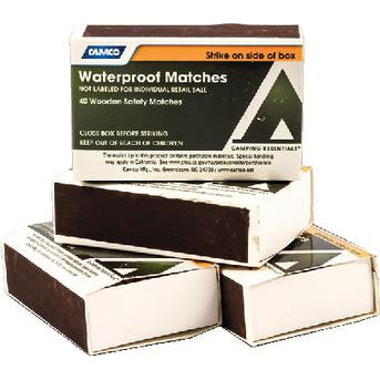 Waterproof Matches - Waterproof Matches 4 Boxes/Pk-Camco Marine-Next Day Boat Parts