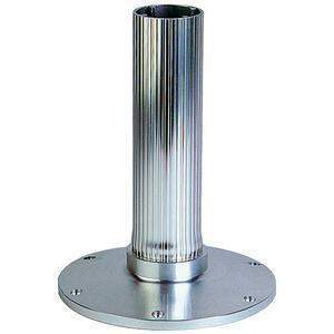 "2-7/8"" Fixed Height Pedestal - Ribbed Series - Seat Base Only 12 Anod Ribbed-Garelick-Next Day Boat Parts"