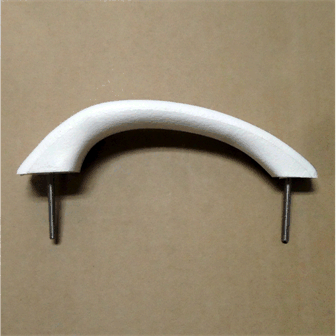"Handle, Grab Arctic White w/ 1/4"" Stainless Steel Studs - 2022384"