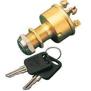 3 Position Magneto Style Ignition/Starter Switch - Switch 3Pos Mag-Ignition Brass - Se-Sea-Dog Line-Next Day Boat Parts