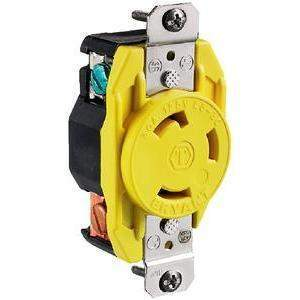 30 Amp Locking Receptacle - Receptacle 30A 125 B-Line-Hubbell-Next Day Boat Parts