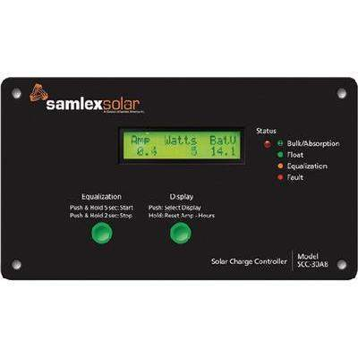 30A Solar Charge Controller - 30A Charge Controller Ssc-30Ab-Samlex-Next Day Boat Parts