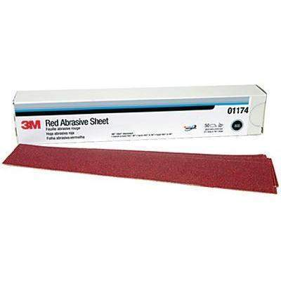3M™ Red Abrasive Stikit™ Sheet - Red Abr 2-3/4X16.5 P80D 25/Bx-3M Marine-Next Day Boat Parts