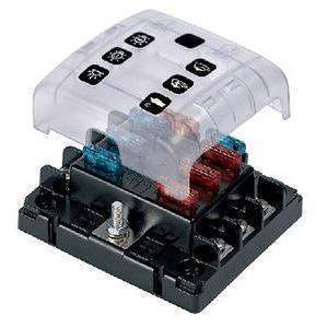 6 Way Atc Fuseholder - 6-Position Fuse Holder With Sc-Marinco-Next Day Boat Parts