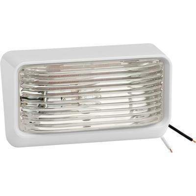 #78 12V Porch/Utility Light - Porch Light Clear #78 Wht Bs-Fulton Products-Next Day Boat Parts
