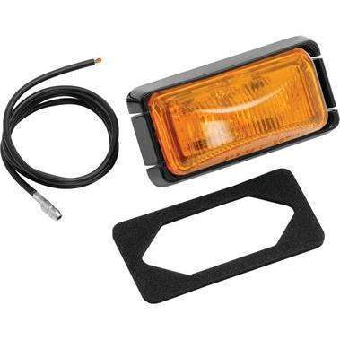 #37 Series Waterproof Clearance/Side Marker Lights - Clearance Light Amb #37 Blk Bs-Fulton Products-Next Day Boat Parts