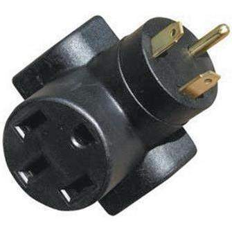 Heavy Duty Molded Adapters - 30-50 Amp Adptr Hd Rt Agl Blk-Voltec-Next Day Boat Parts