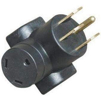 Heavy Duty Molded Adapters - 50-30 Amp Adptr Hd Rt Angl Blk-Voltec-Next Day Boat Parts