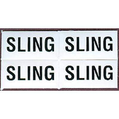 Lift & Sling Labels - Identi Label Sling 4/Pk-Bernard Engraving-Next Day Boat Parts