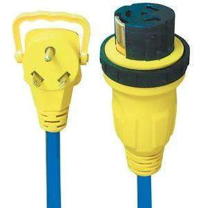 Locking Ezeegrip Adapters - 2' 50 Amp To 30 Amp Locking-Voltec-Next Day Boat Parts