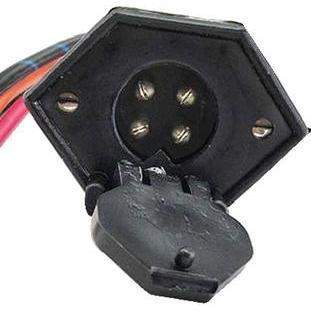 V-Groove Trolling Motor Plug And Receptacle - V-Groove Trolling Mtr Recept.-Rig Rite-Next Day Boat Parts