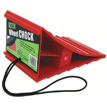 Wheel Chock - Red Wheel Chock With Black-Valterra-Next Day Boat Parts