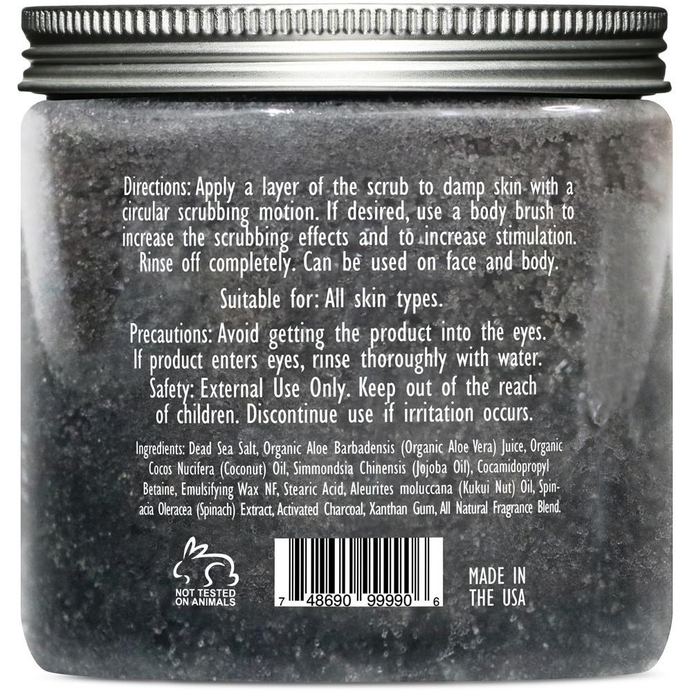 Activated Charcoal Body & Face Scrub - 10 oz