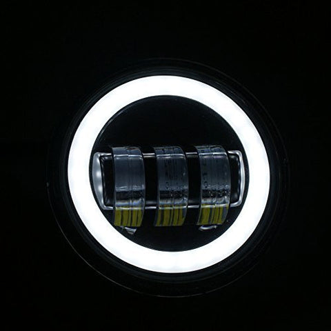 Chrome 4 5 Quot Halo 30w Cree Led Motorcycle Fog Passing