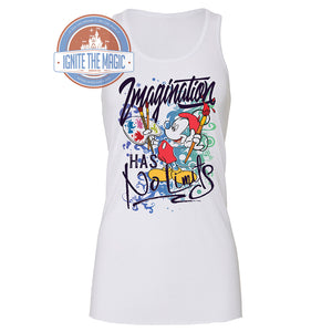 Imagination Has No Limits - Women's Tanks + Tees - Ignite the Magic