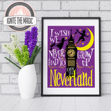 [Art Print] Off to Neverland - Ignite the Magic