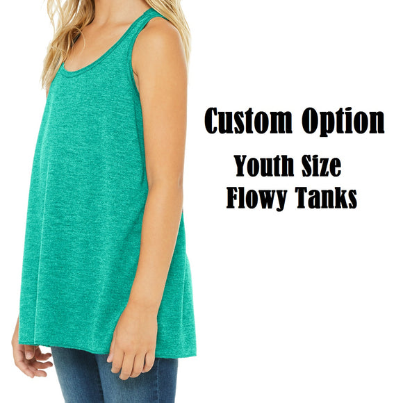 [Custom Option] Youth Flowy Tanks - Ignite the Magic