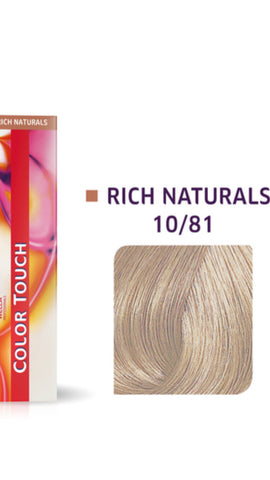 10/81 Colour Touch Hair Colour