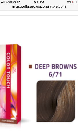6/71 Colour Touch Hair colour