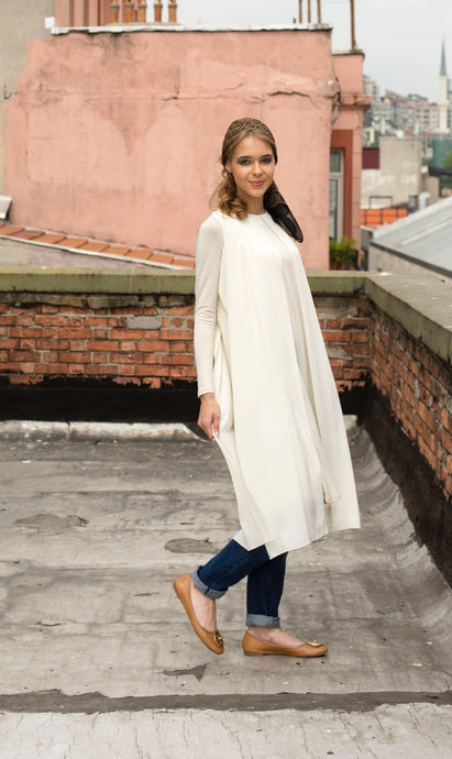 SrLamode - Cream Cotton Tunic