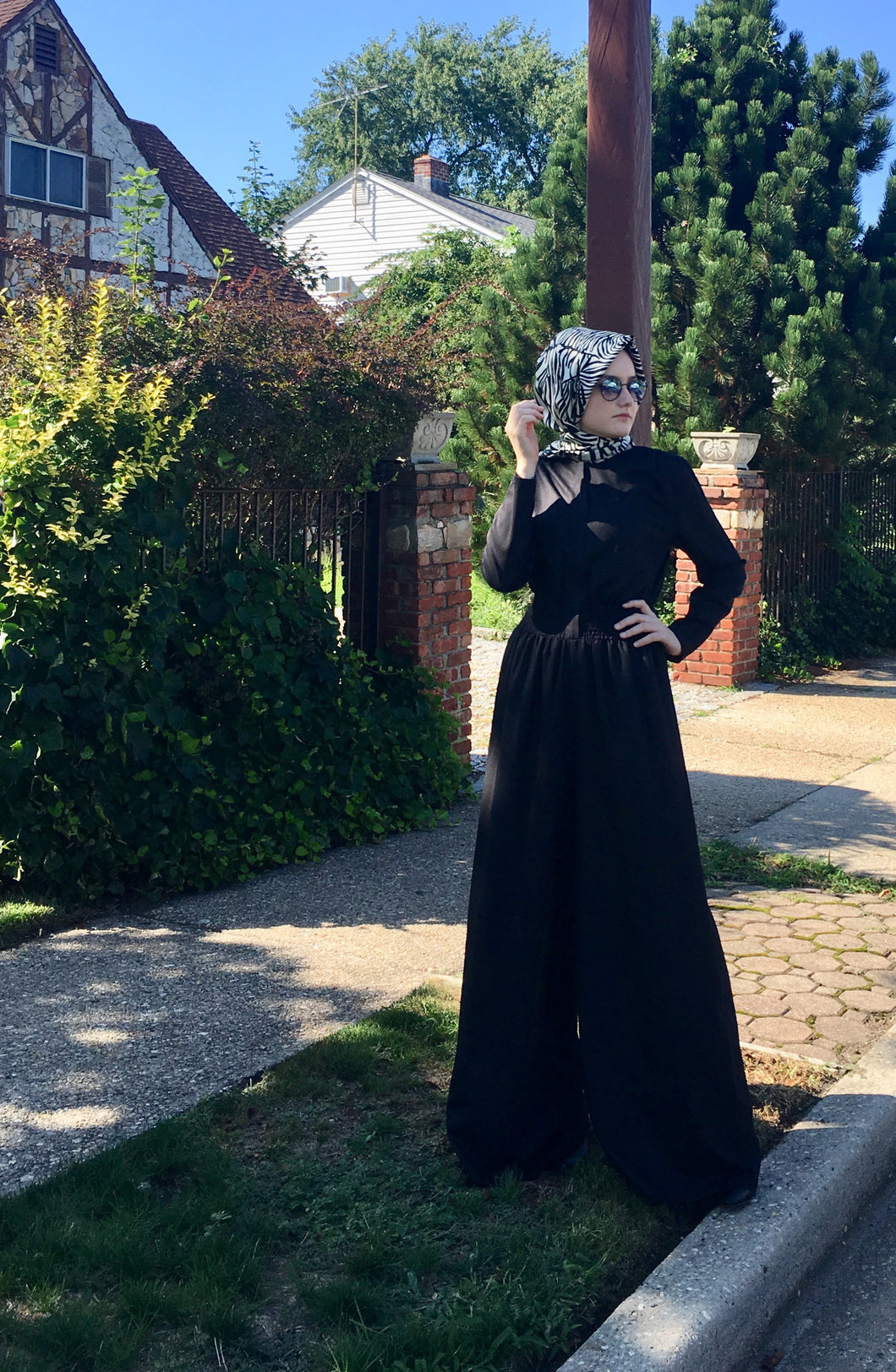 SrLamode - Black Wide-Leg Jumpsuit