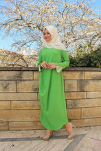 SrLamode - Green Crepe Dress