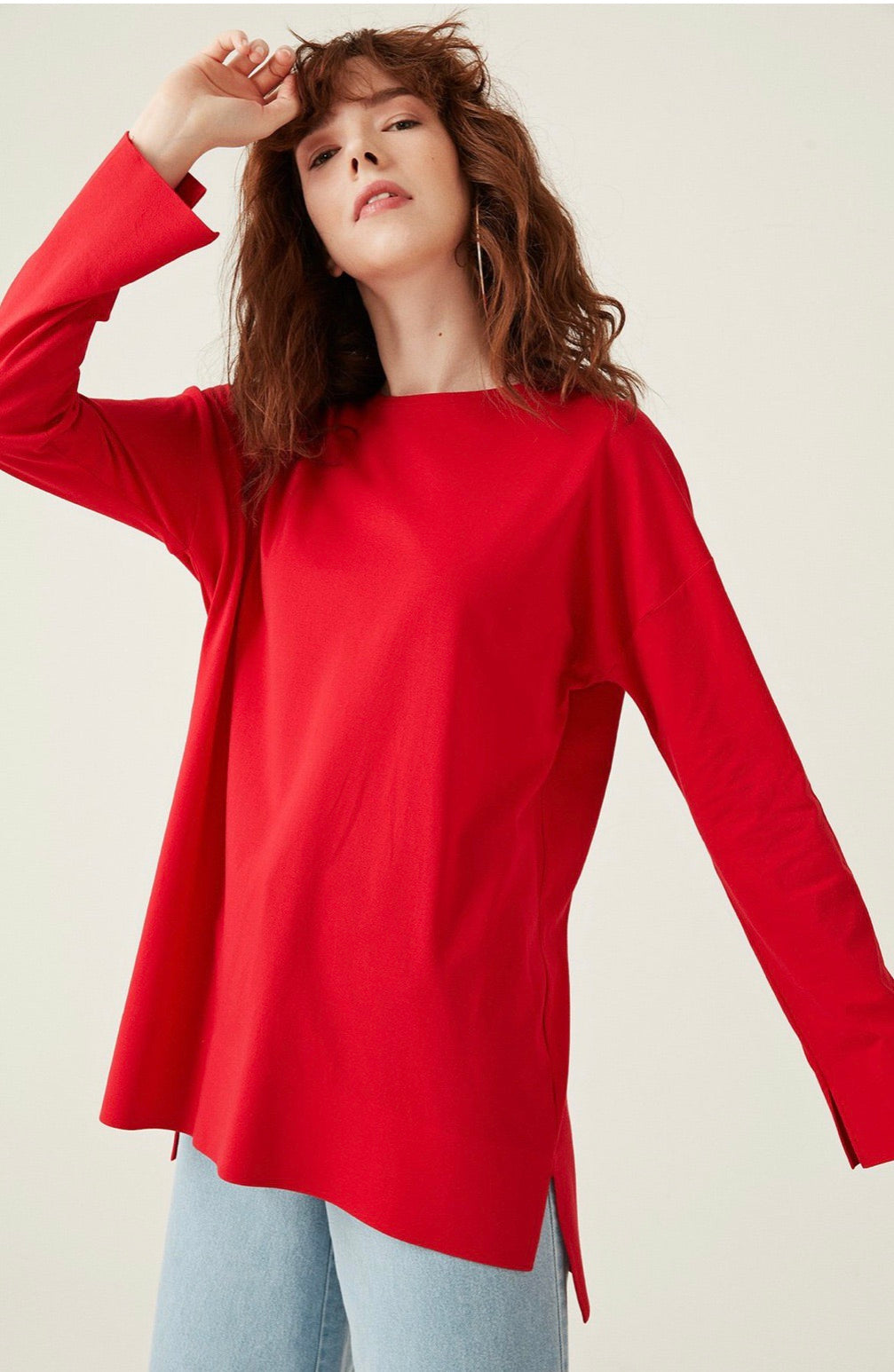 Long sleeve cotton (red)