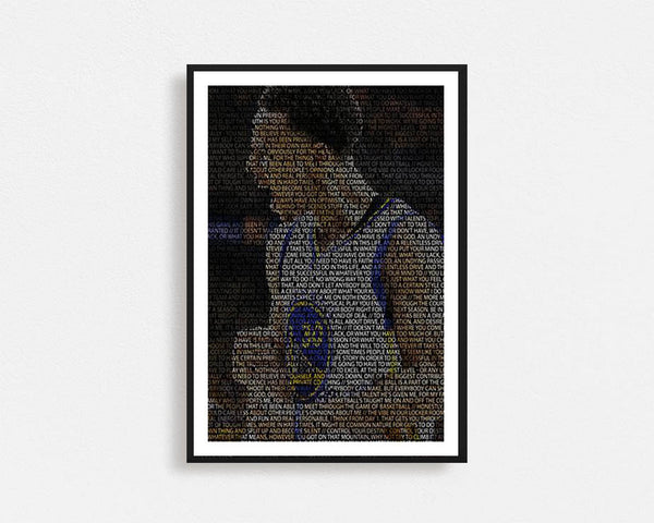 Steph Curry Typography Frame