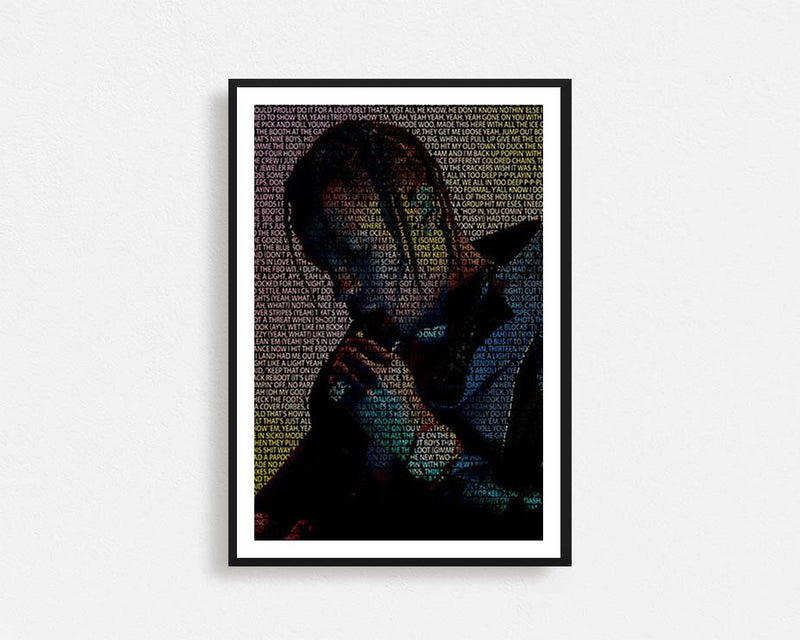 Travis Scott Typography Frame