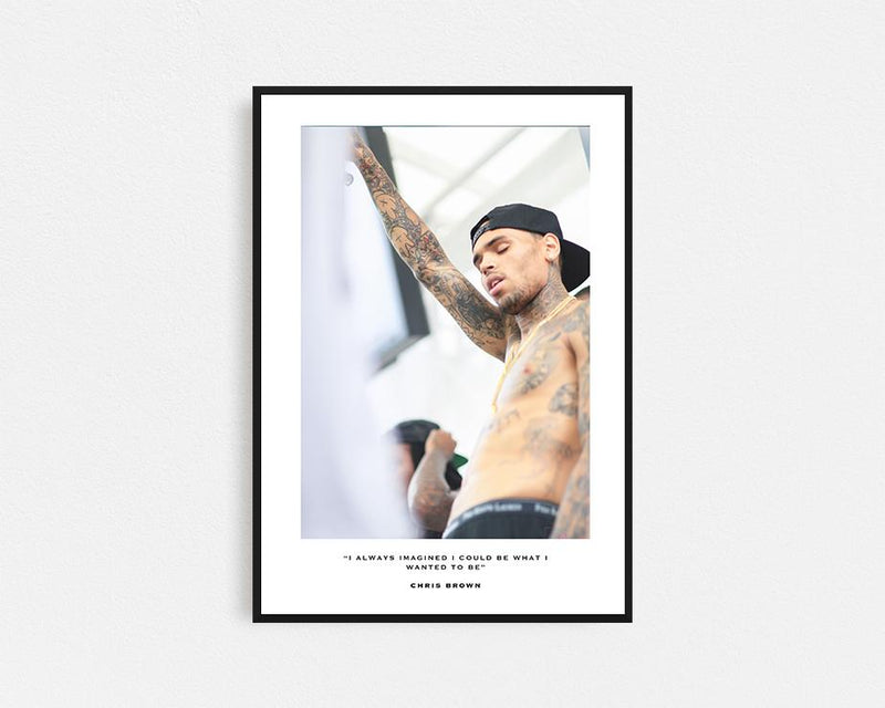Chris Brown First Edition Frame