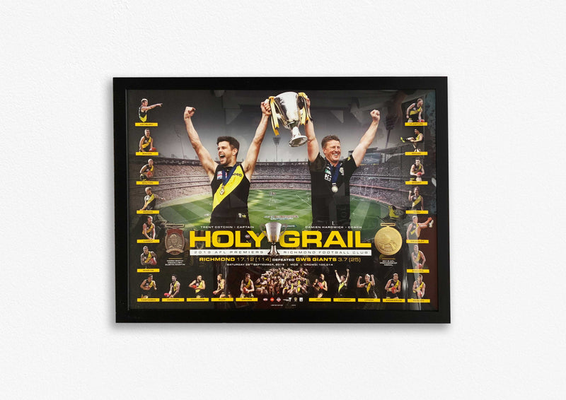 Richmond 2019 Premiers Holy Grail - Framed