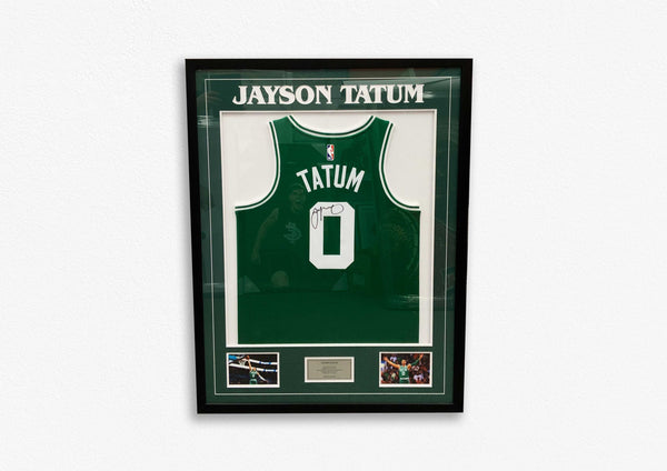 Jayson Tatum Exclusive Hand Signed Jersey - Framed