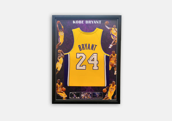 Kobe Bryant Signed Signature Series Jersey Framed