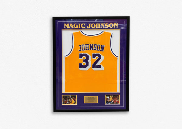 Magic Johnson Hand Signed Jersey - Framed