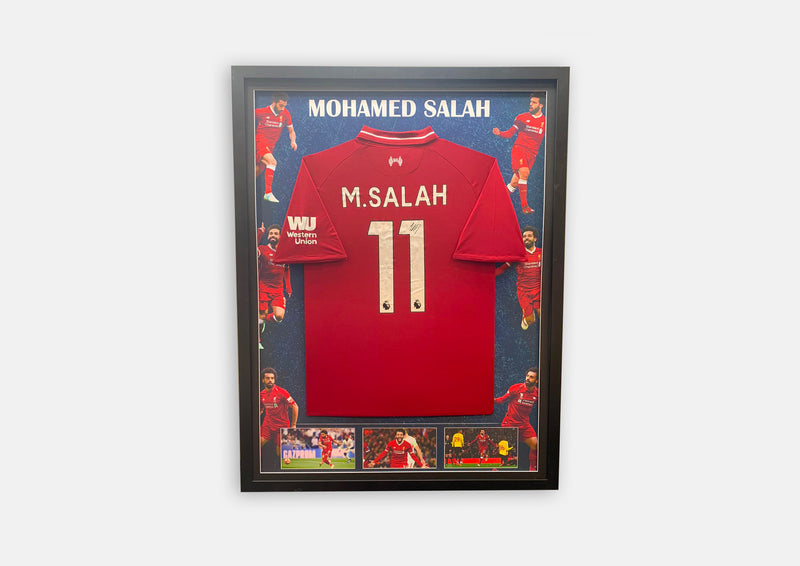 Mohamed Salah Signature Series Jersey Framed
