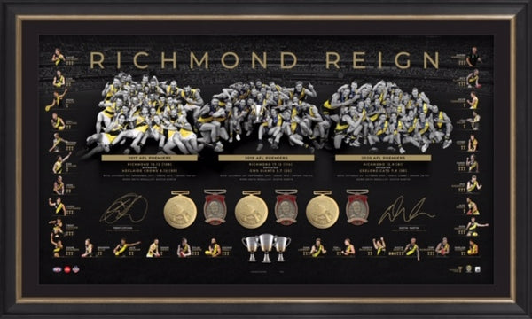 Richmond 2020 Dual Signed Premiership Trilogy Lithograph
