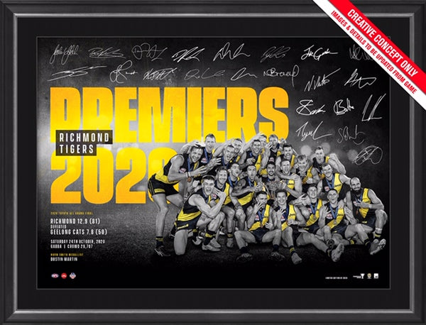Richmond 2020 Premiers Framed Sportsprint