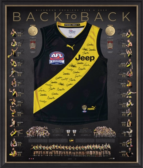 Richmond 2019 2020 Back-to-Back Deluxe Signed Premiers Guernsey