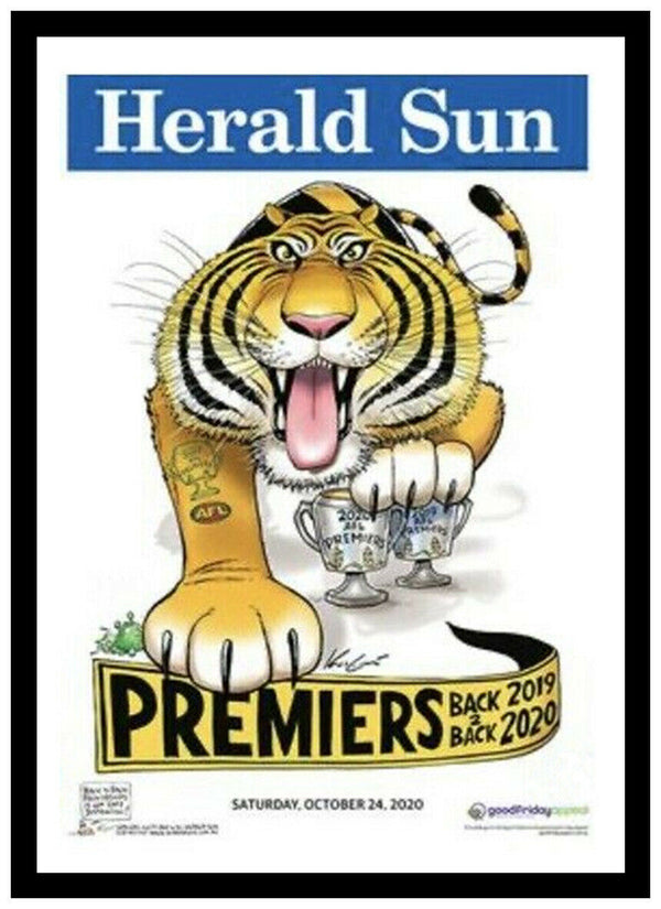 MARK KNIGHT HERALD SUN RICHMOND 2020 POSTER FRAMED