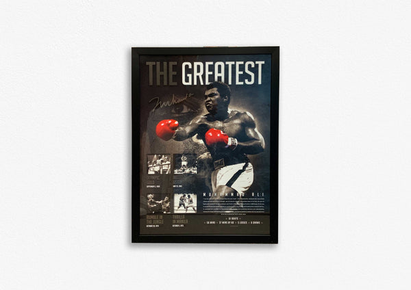 MUHAMMAD ALI THE GREATEST POSTER FRAMED