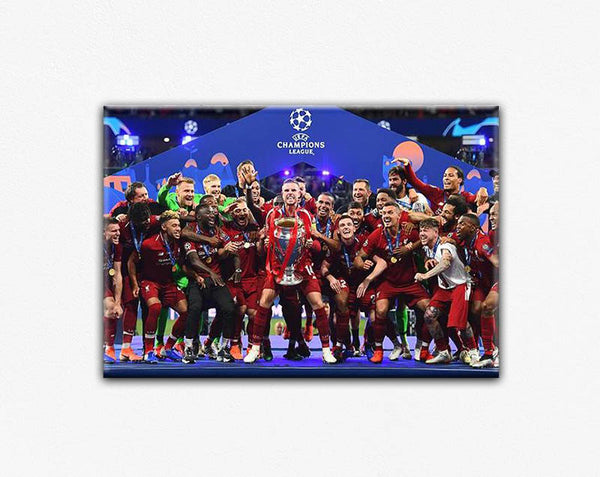 LIVERPOOL UEFA CANVAS PRINT POSTER #5