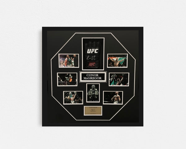 Conor McGregor Hand Signed Glove Framed Collage