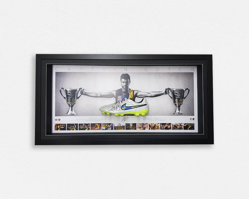 Trent Cotchin Signed Boot (4 options) Framed