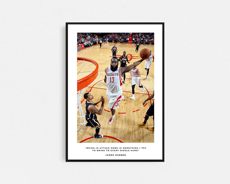 James Harden Houston Rockets Frame