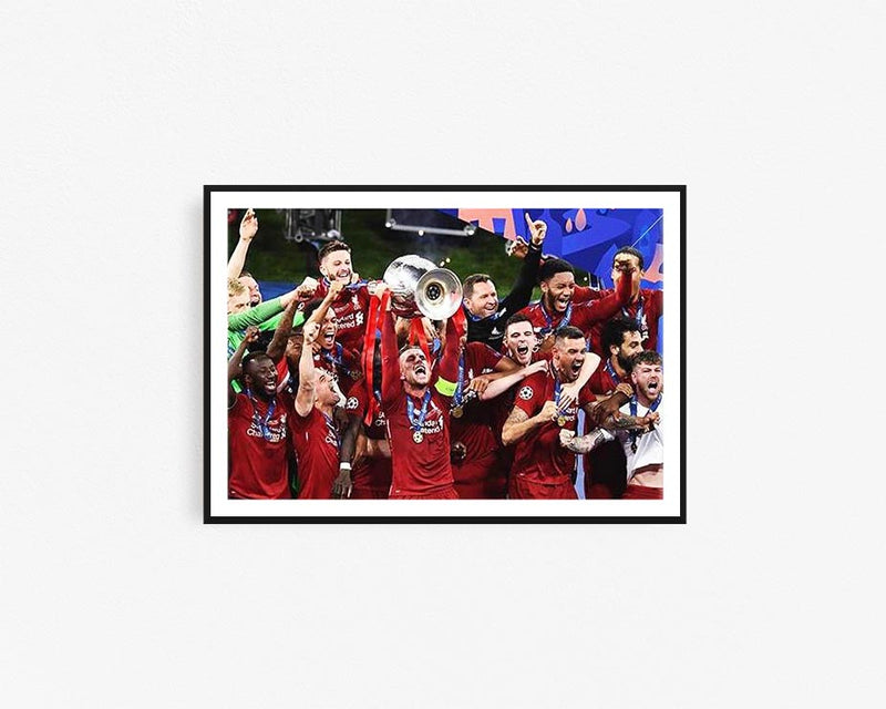 LIVERPOOL UEFA CANVAS PRINT POSTER #3