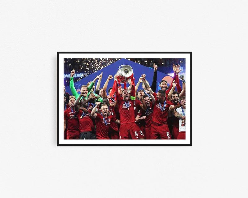 LIVERPOOL UEFA CANVAS PRINT POSTER